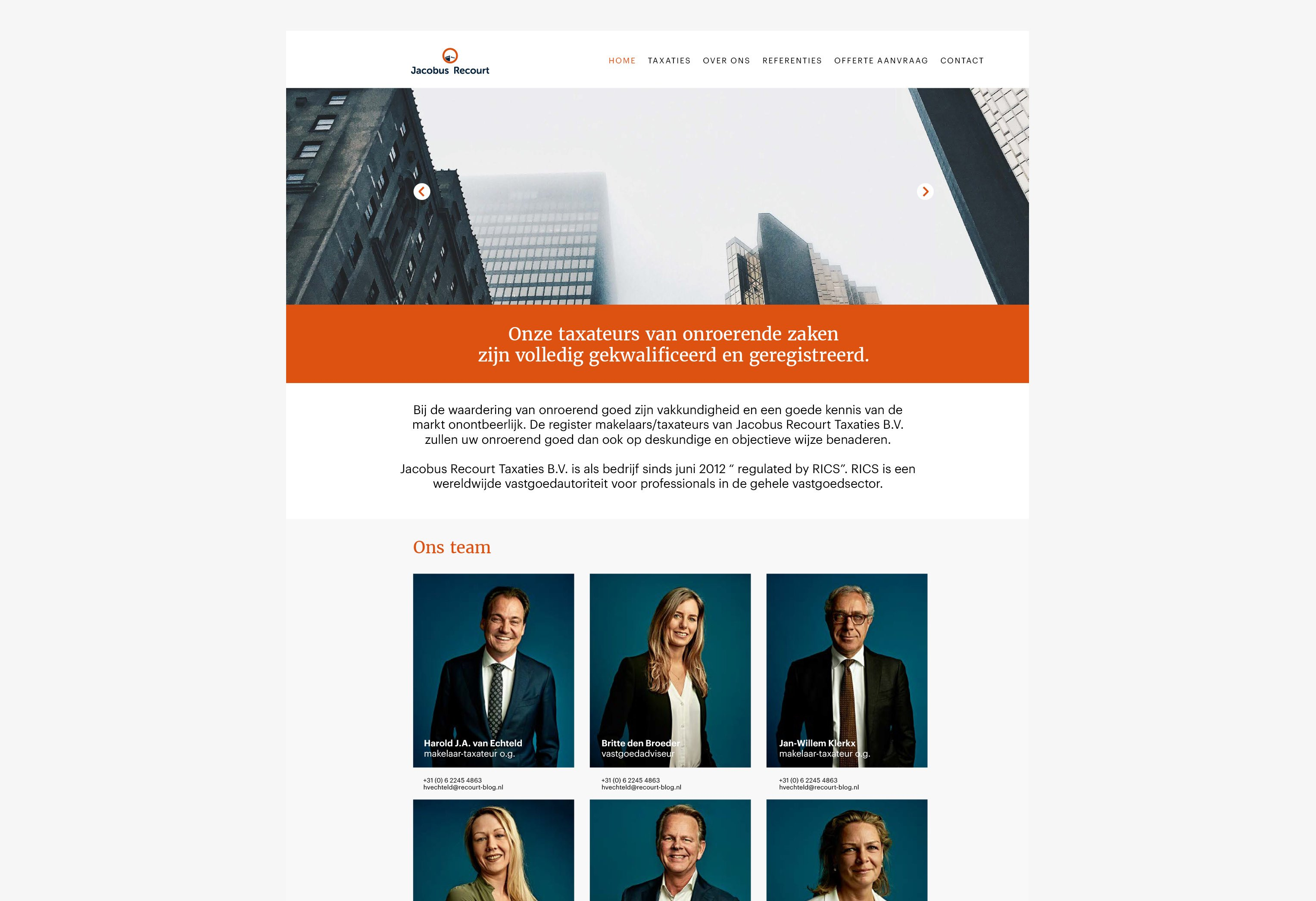 Jacobus Recourt, website