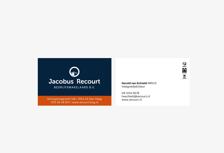 Jacobus Recourt, visitekaartjes