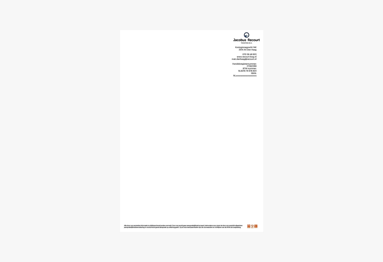 Jacobus Recourt, briefpapier